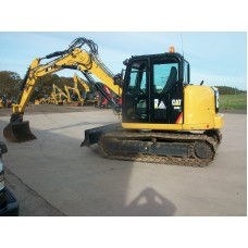 2017 Cat 308E2 1150 hours DMF486 c/w hydraulic hitch and 3 buckets